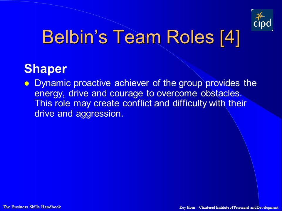 Belbin's Team Roles [4] Shaper